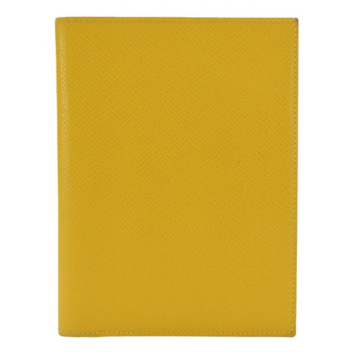 Hermes - Petite maroquinerie   pour homme en cuir - jaune