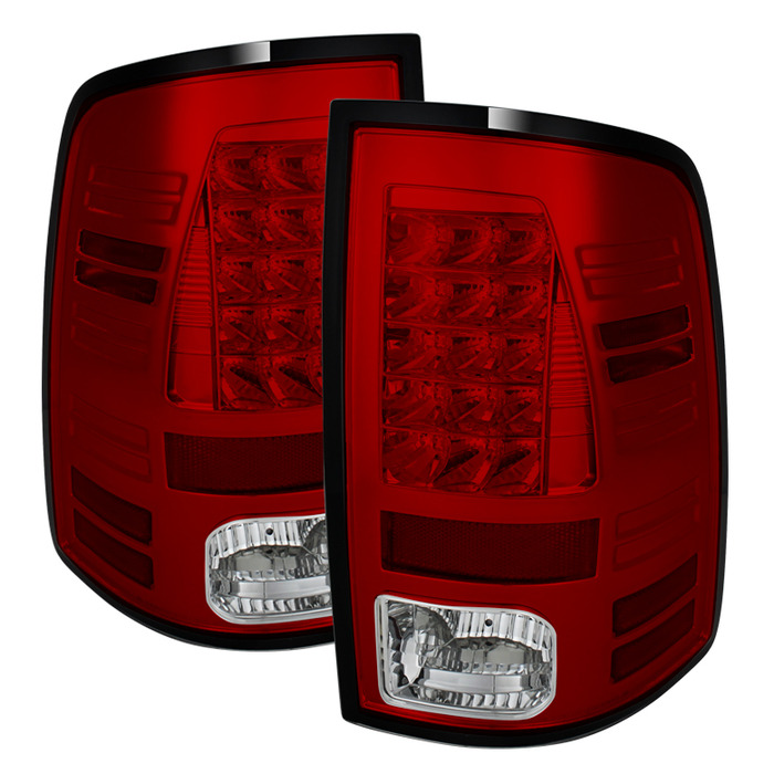 Spyder Auto ALT-YD-DRAM13-LED-RC Red Clear LED Taillights Dodge Ram 2500 | 3500 with LED Lights 13-14