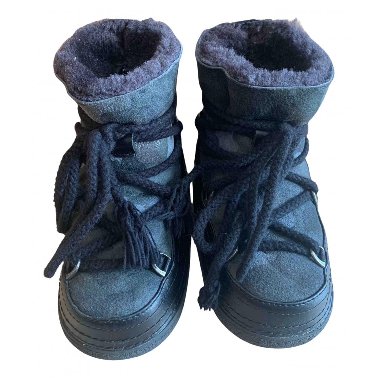 Inuikii \N Stiefel in  Grau Leder