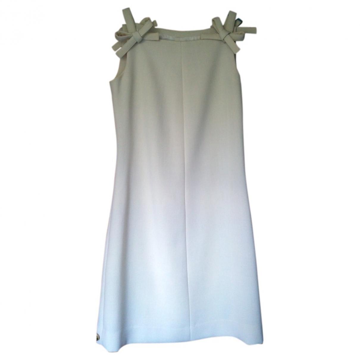 Courreges - Robe   pour femme en laine - ecru