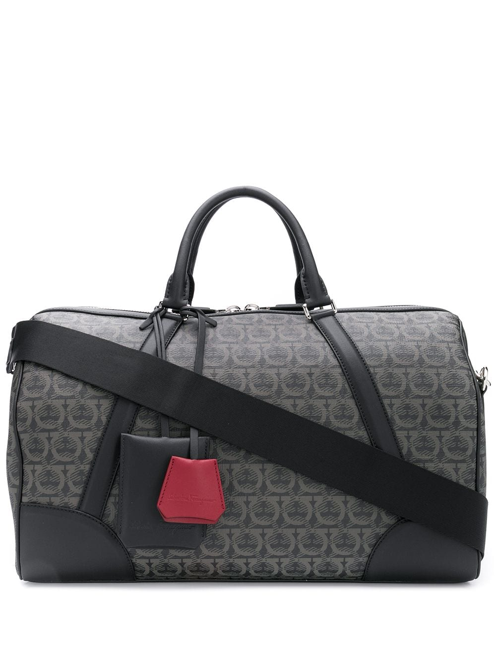 Leather Gancini Weekender Bag