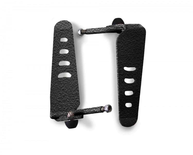 Steinjager J0043881 Foot Rest Kit Wrangler TJ 1997-2006 Metal Design Black