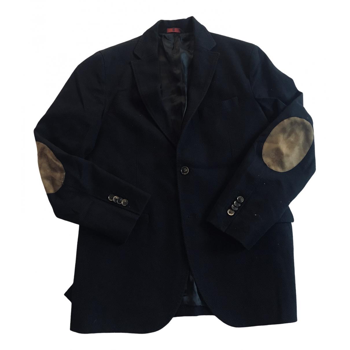 Massimo Dutti - Vestes.Blousons   pour homme en coton - bleu