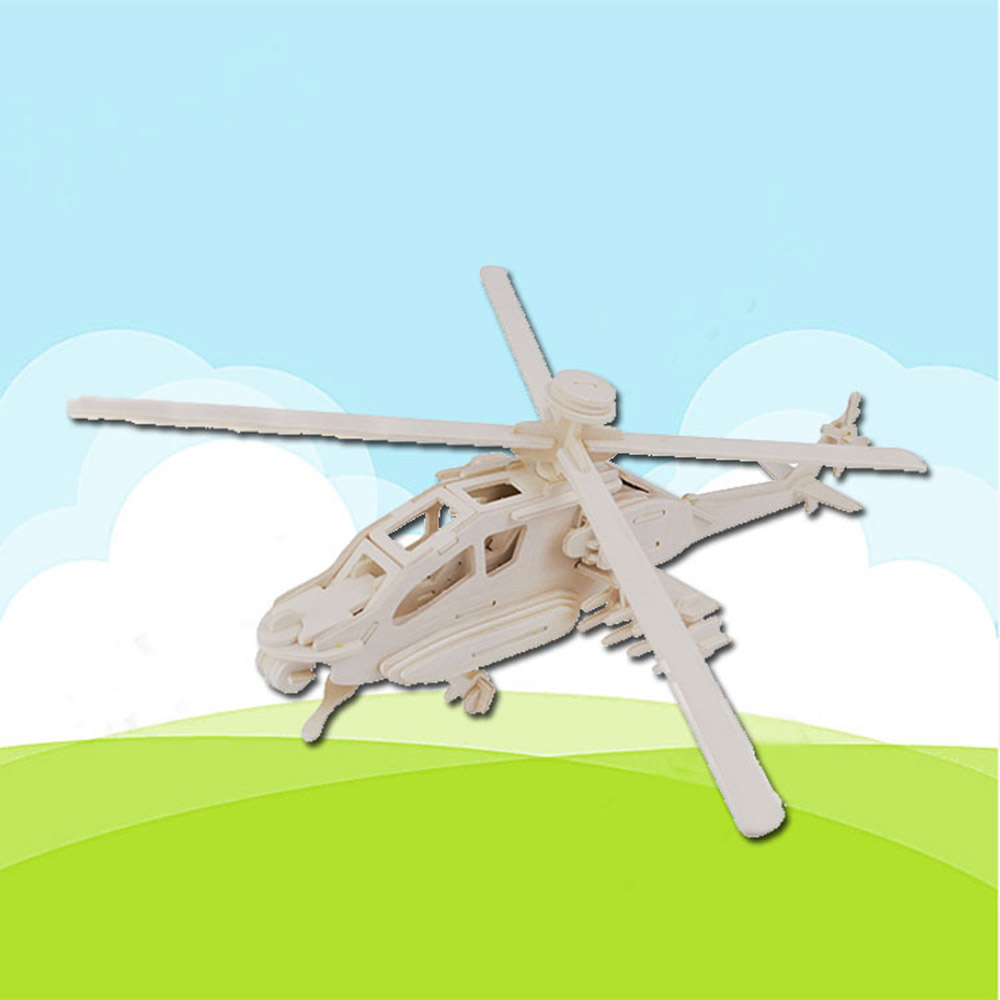 Helicopter Puzzle DIY Children Assemble Puzzle Toys