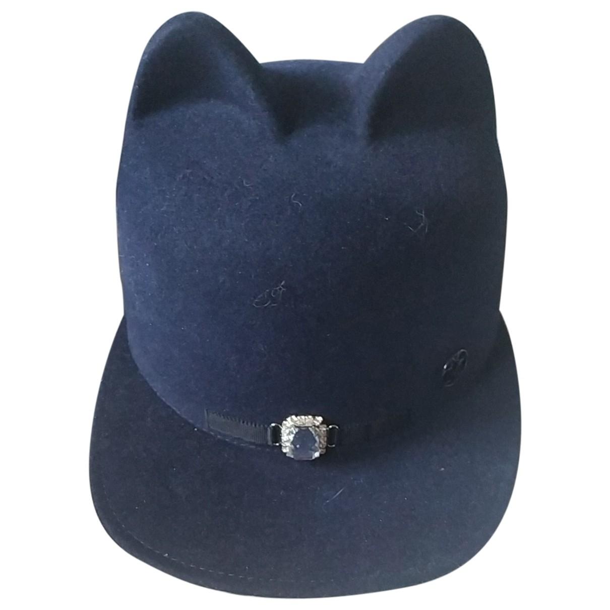 Maison Michel \N Blue Cotton hat for Women S International