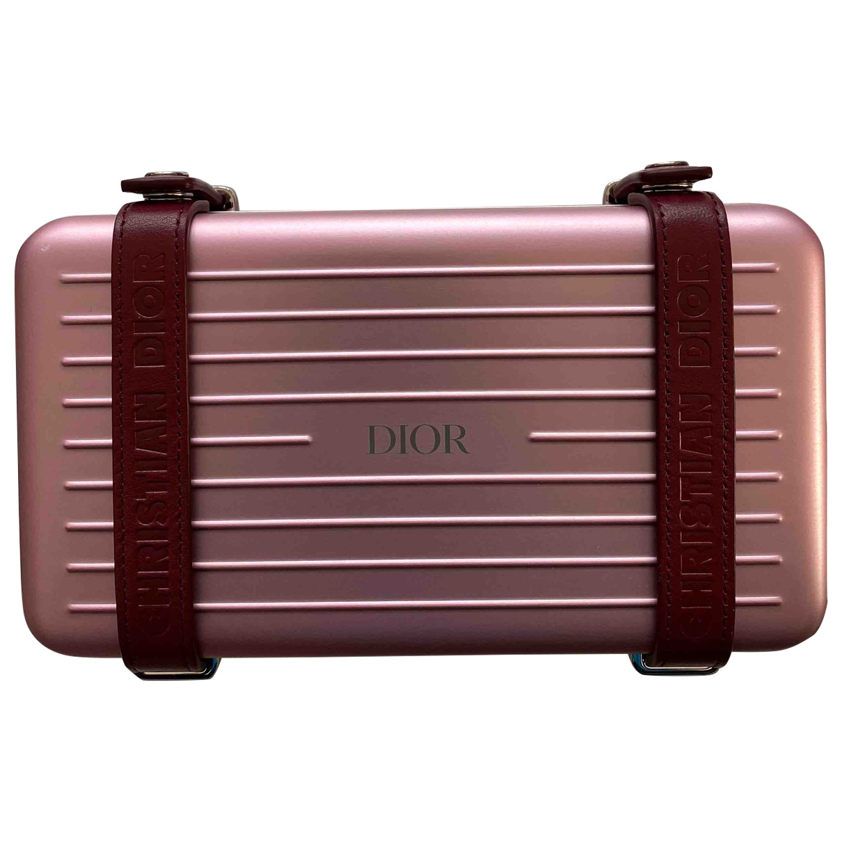 Dior X Rimowa Personal Taschen in  Rosa Metall