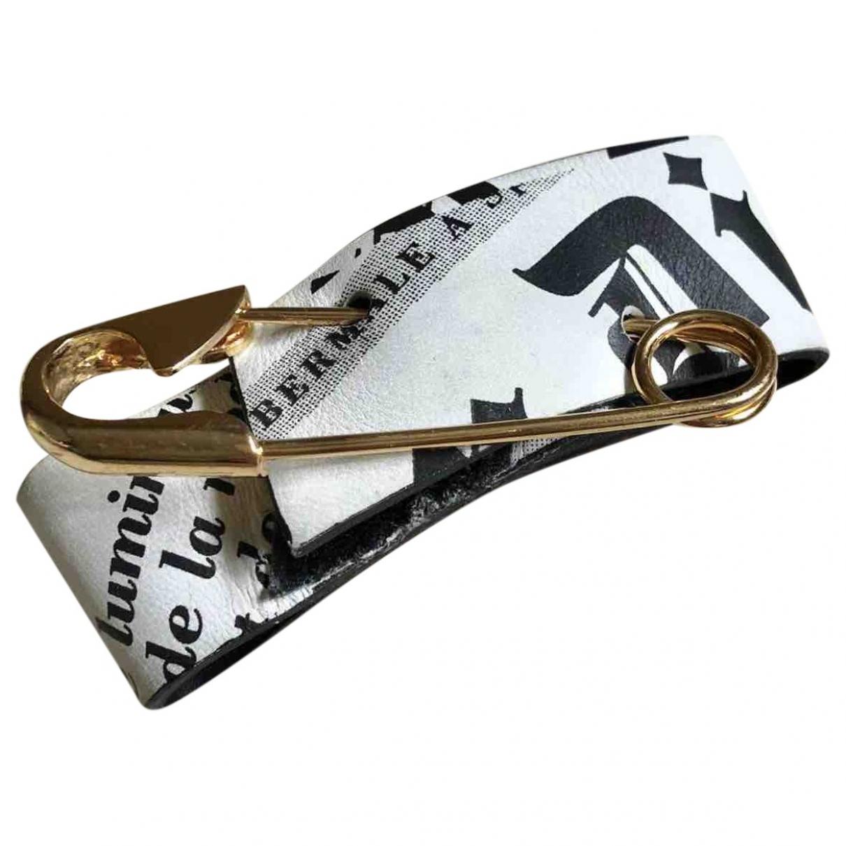 Christian Dior - Bracelet   pour femme en cuir - blanc