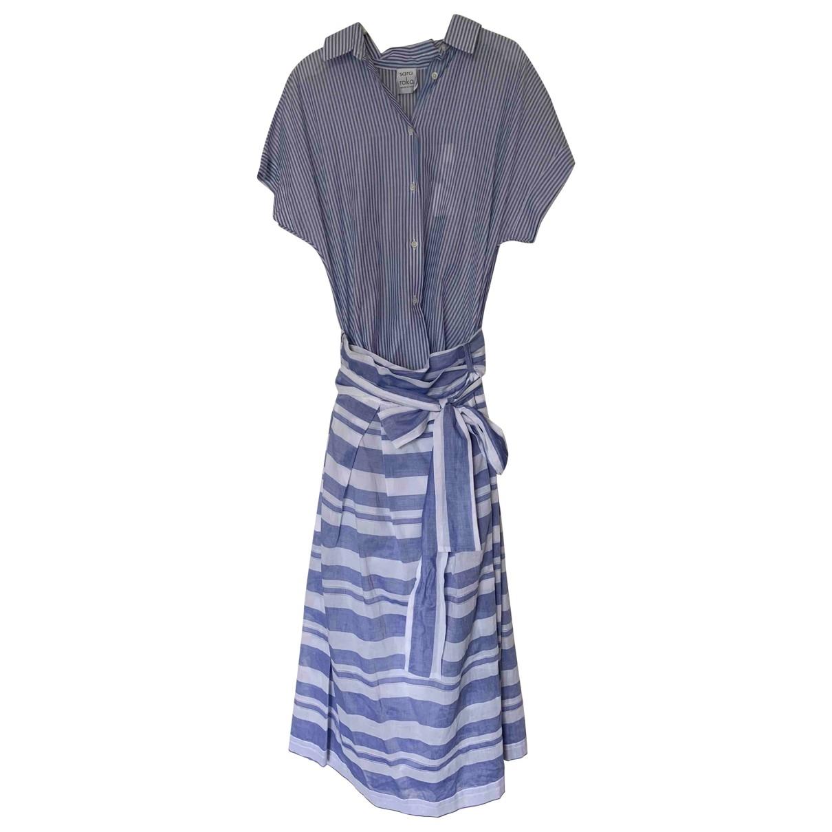 Sara Roka \N Kleid in  Blau Baumwolle