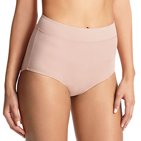 Warners No Pinching. No Problems. Tailored Microfiber Brief Panty 5738, 9 , Beige