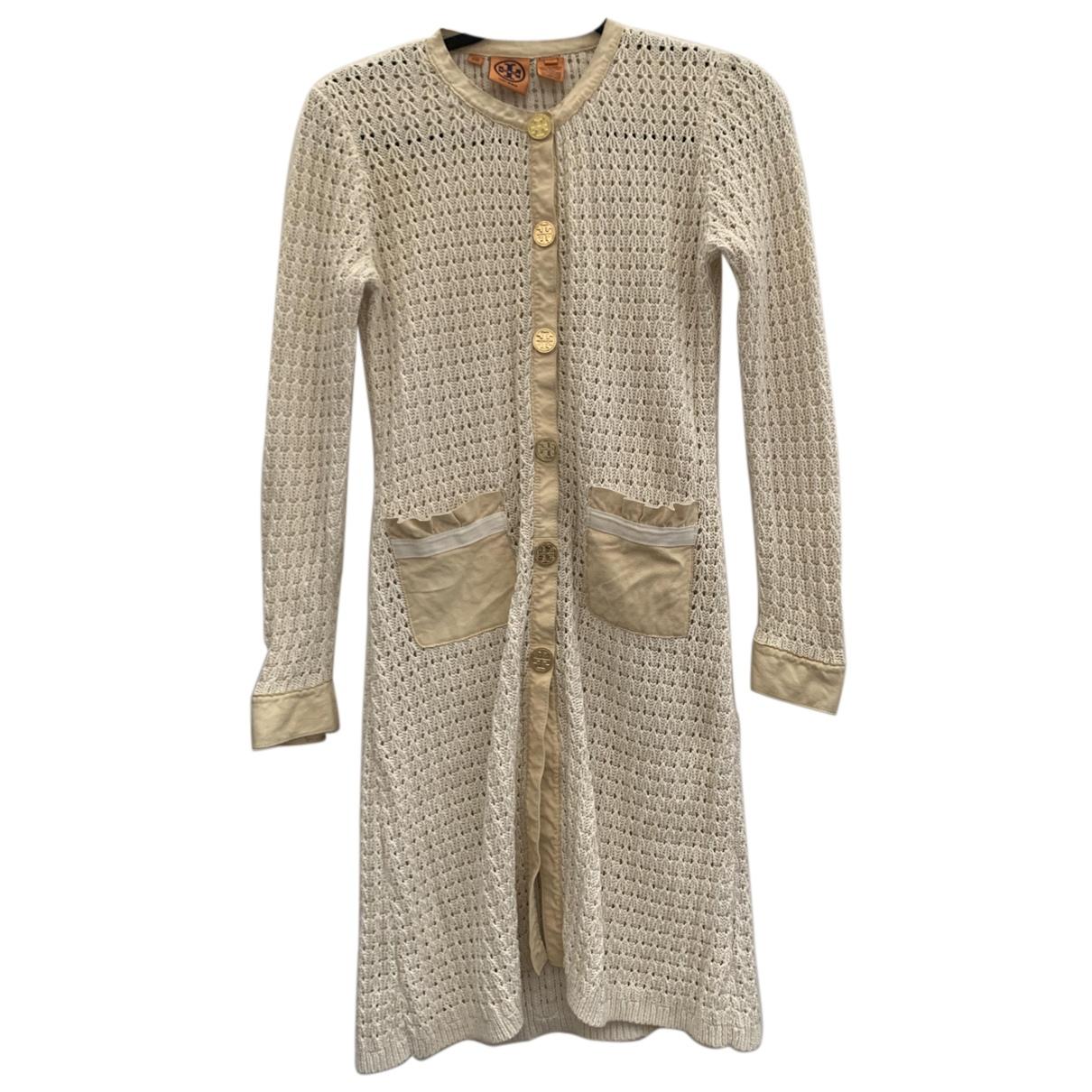 Tory Burch - Manteau   pour femme en coton - ecru
