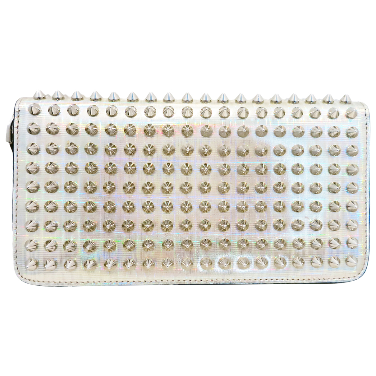 Christian Louboutin Panettone Silver Patent leather wallet for Women N