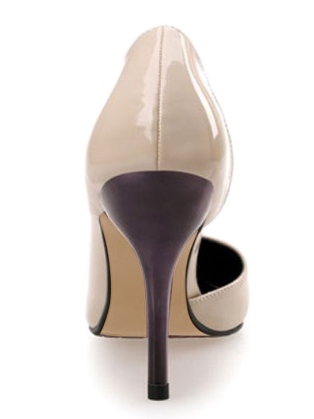 Milanoo Pointed Toe Pumps Stiletto Slip On D'Orsay Style Women's High Heel Shoes