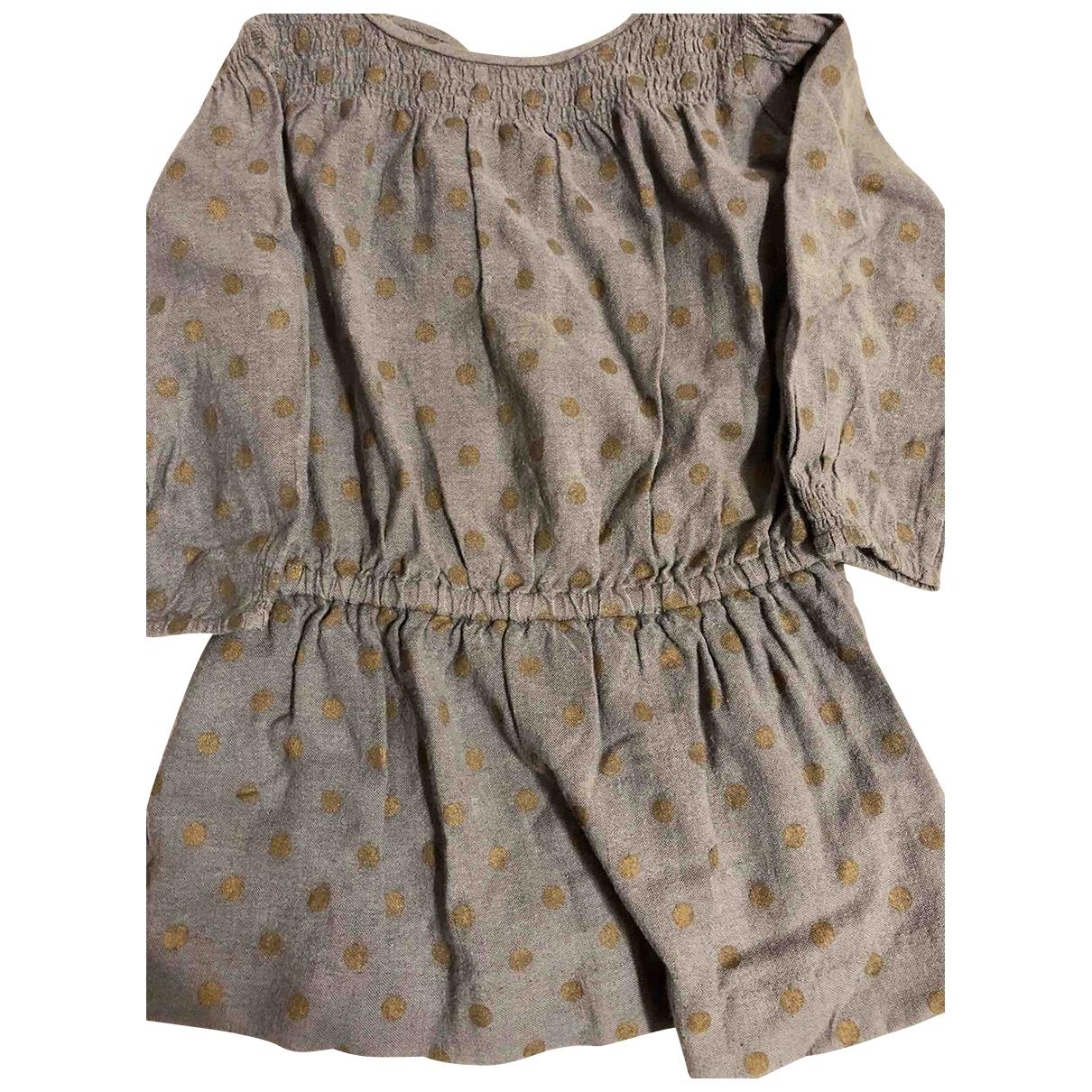 Bonpoint \N Kleid in  Grau Wolle