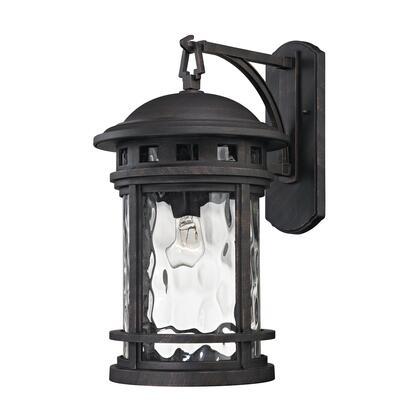 45112/1 Costa Mesa 1 Light Outdoor Wall Lantern in Weathered