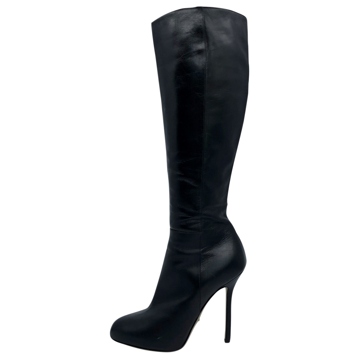 Sergio Rossi \N Black Leather Boots for Women 37 EU
