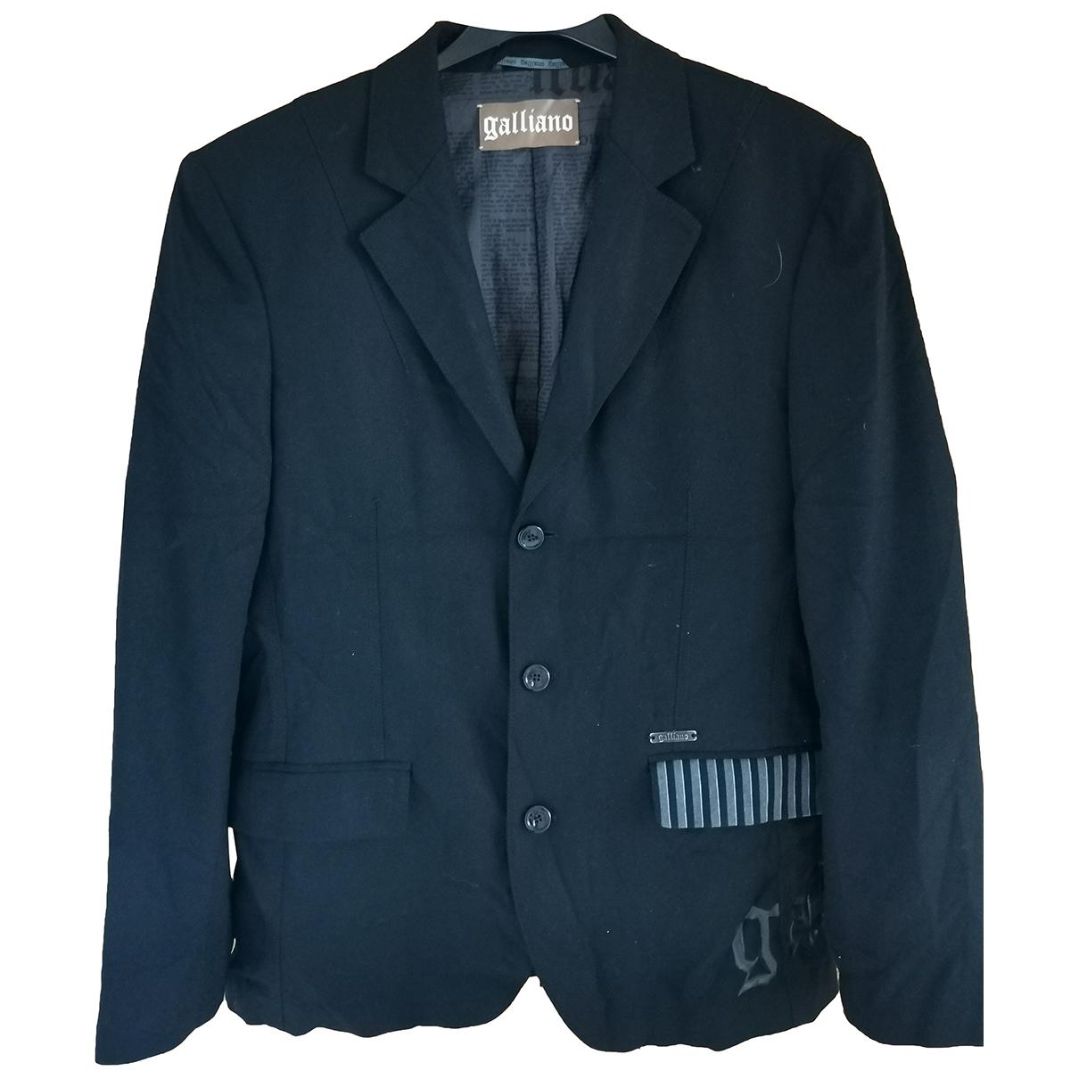 Galliano N Black Cotton jacket  for Men 50 IT