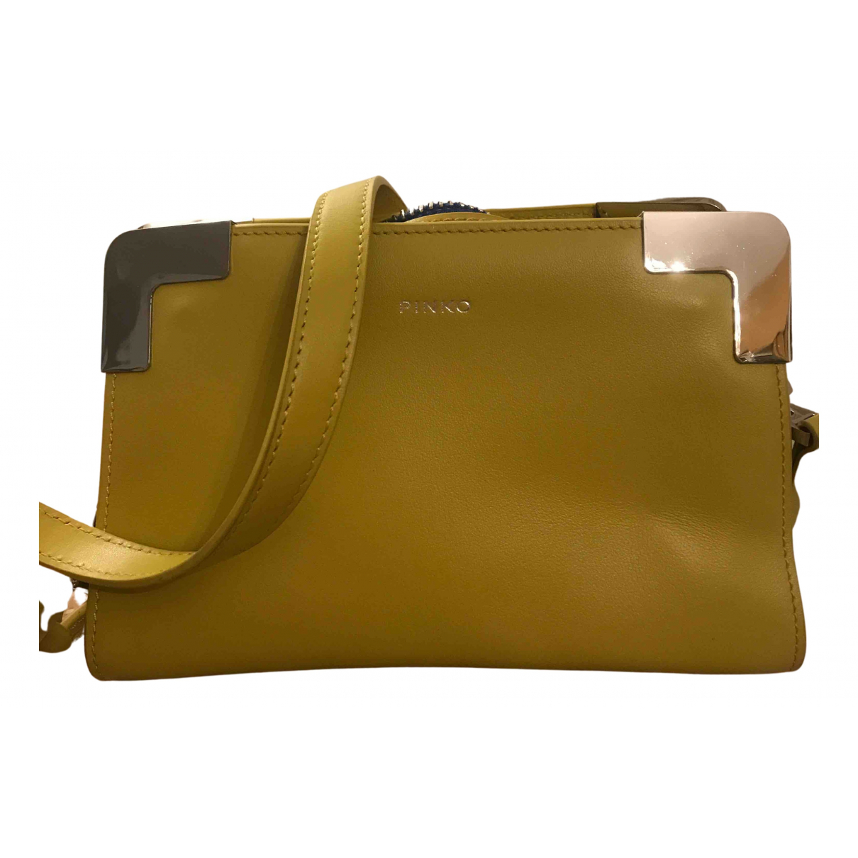 Pinko N Yellow Leather handbag for Women N