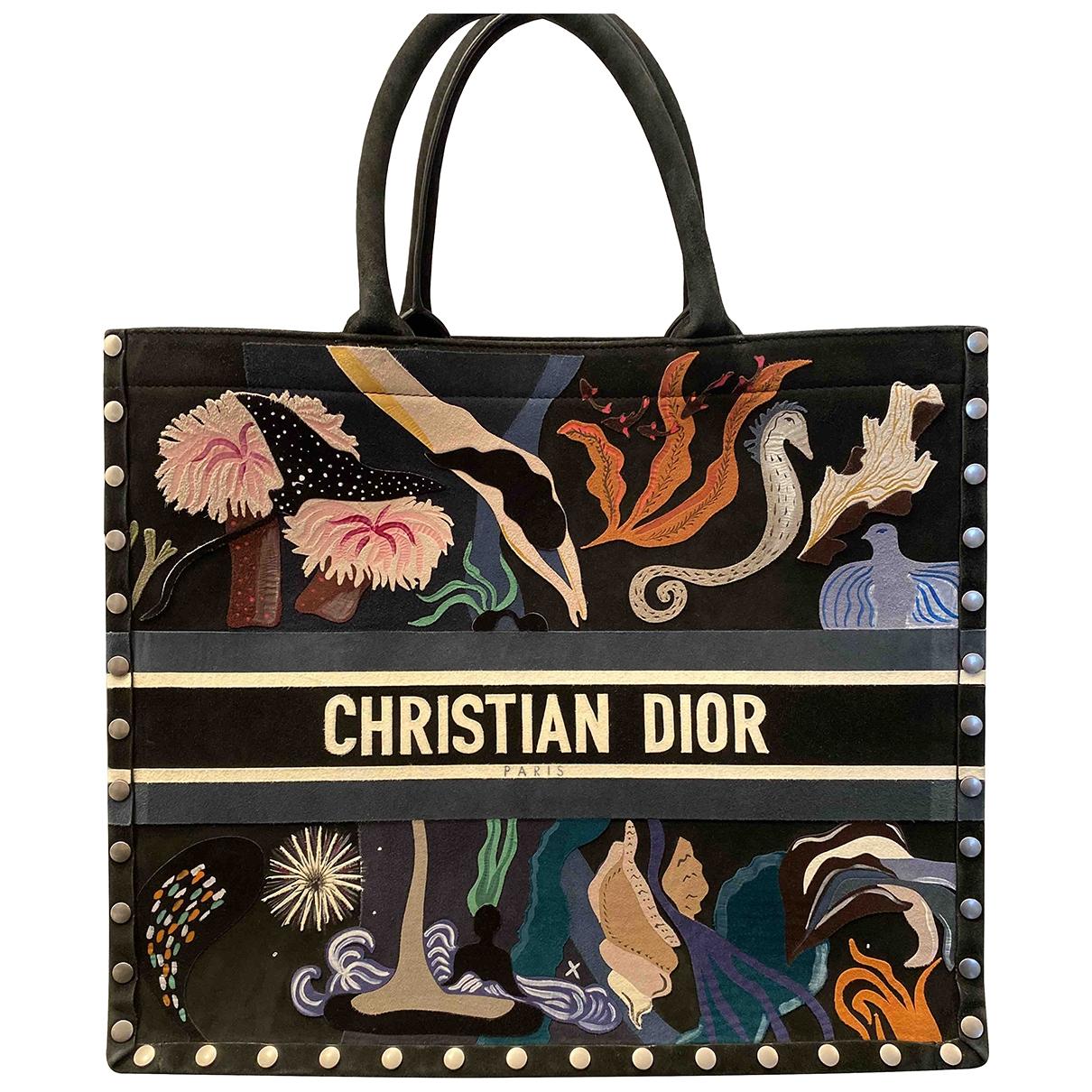 Dior Book Tote Multicolour Suede handbag for Women \N