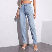 High Waist Light Wash Jeans