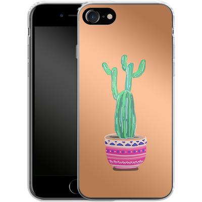 Apple iPhone 7 Silikon Handyhuelle - Cacti Love von Mukta Lata Barua