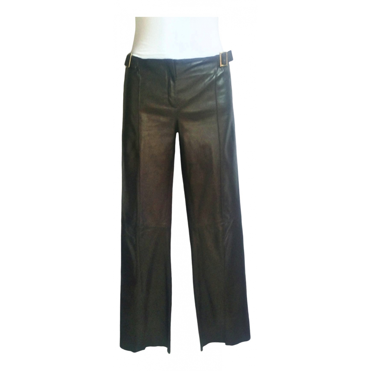Roberto Cavalli \N Brown Leather Trousers for Women M International