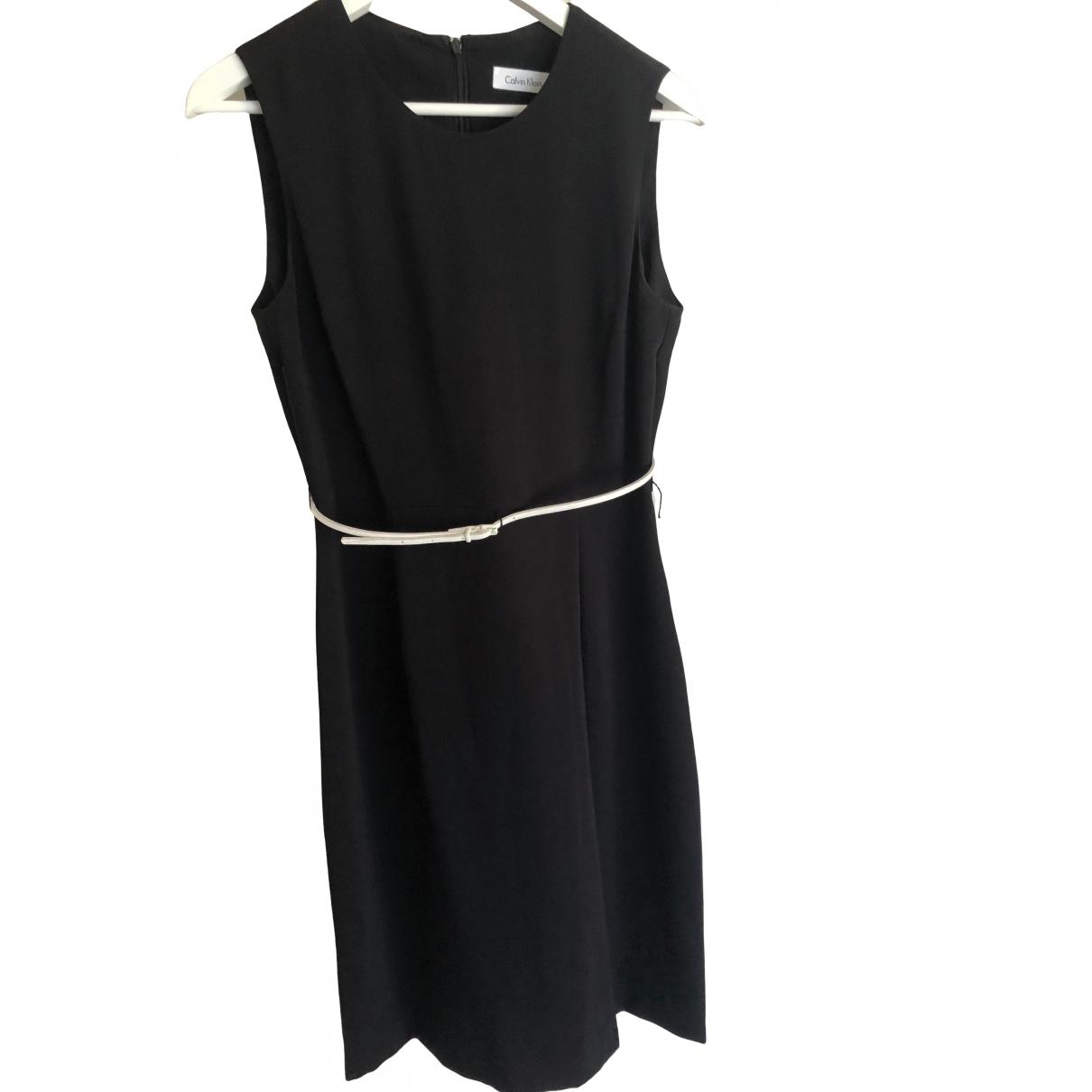 Calvin Klein \N Kleid in  Schwarz Polyester
