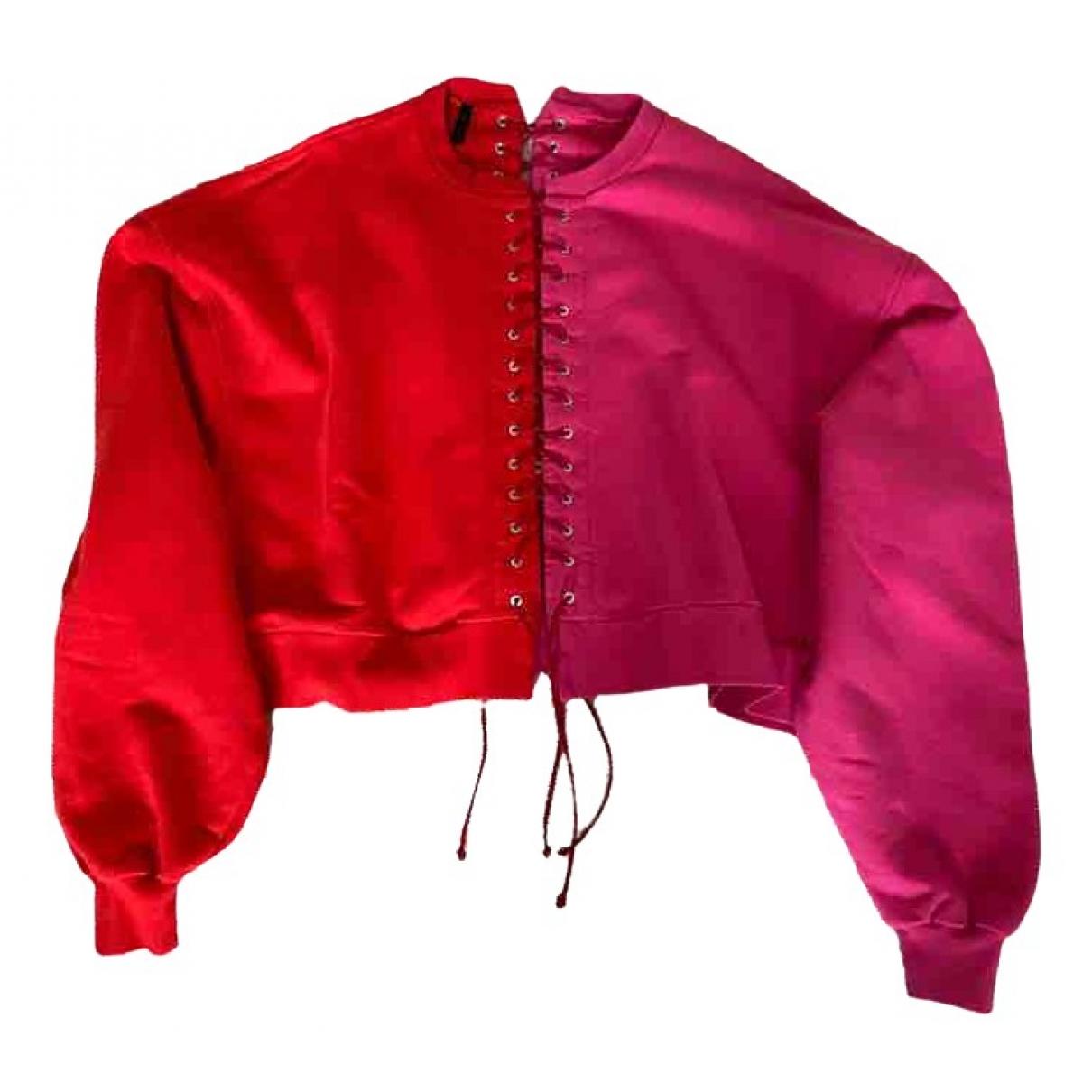 Unravel Project - Pull   pour femme en coton - rouge