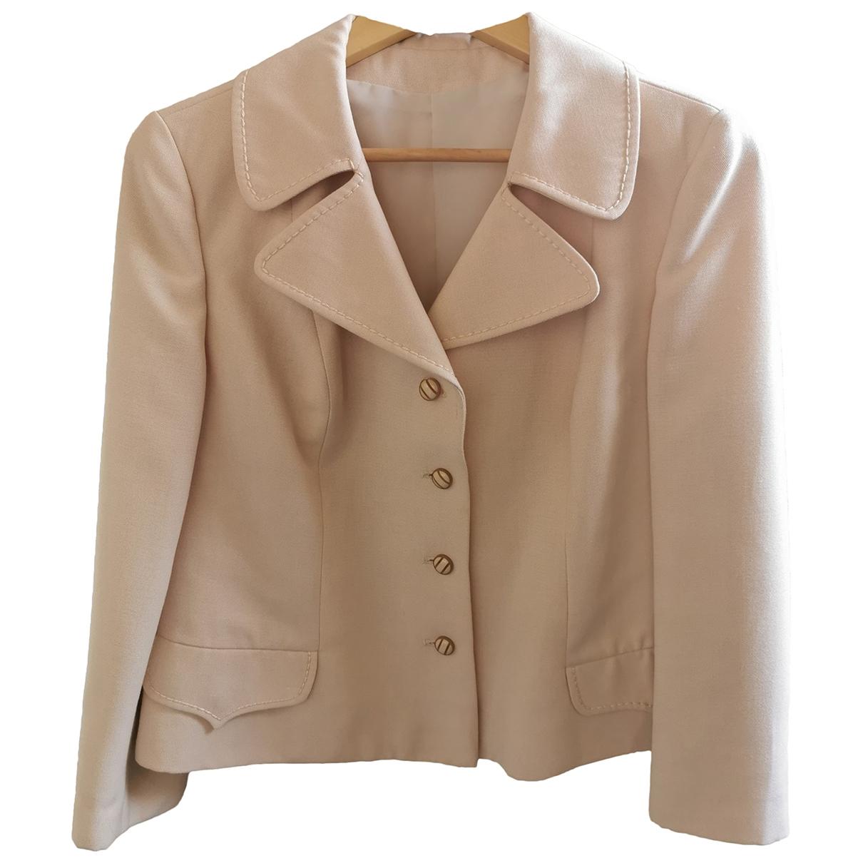 - Veste   pour femme en coton - ecru