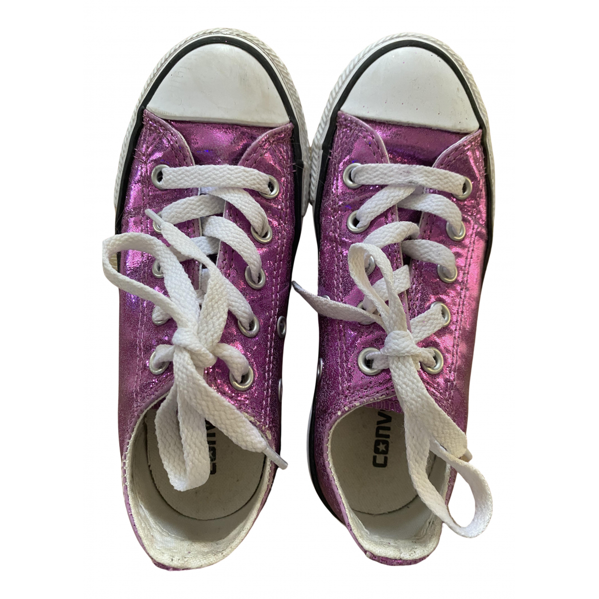 Converse N Purple Cloth Trainers for Kids 28 FR