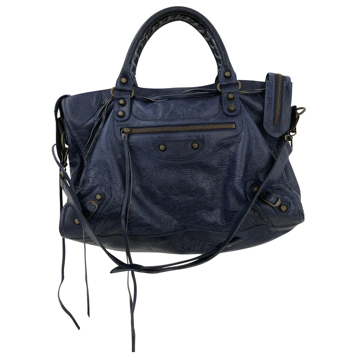 Balenciaga City Blue Leather handbag for Women \N
