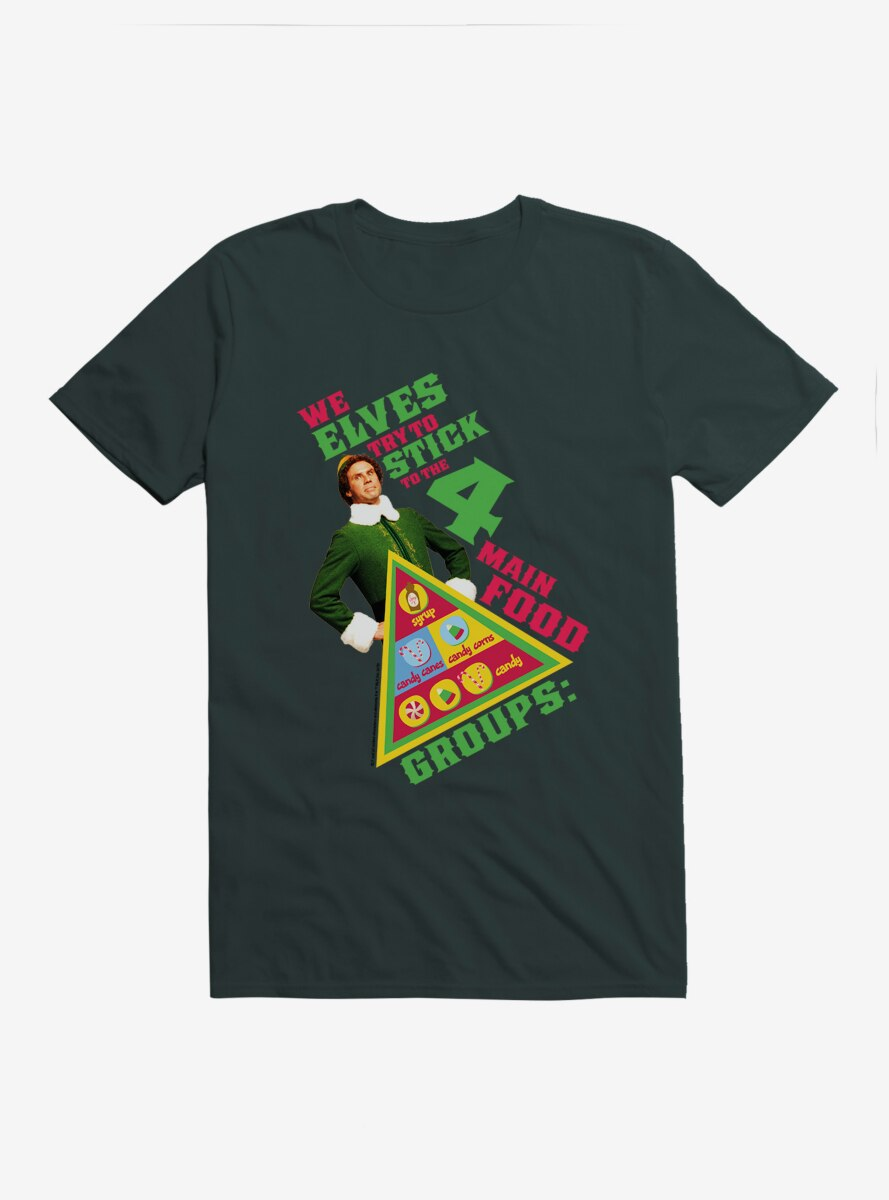 Elf Four Main Food Groups T-Shirt