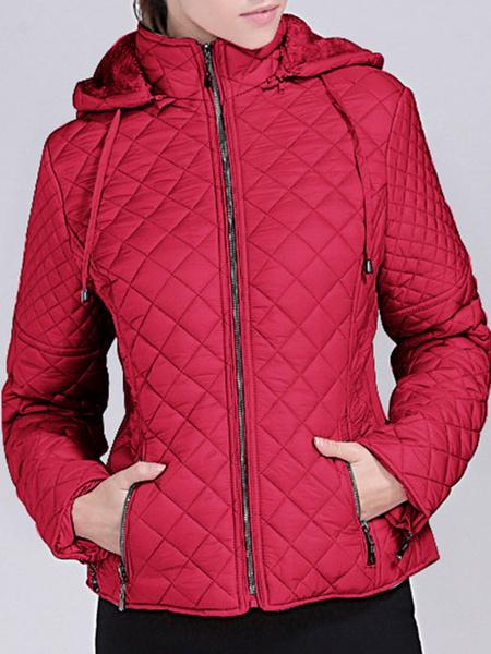Milanoo Abrigos acolchados para mujer Crudo blanco Manga larga Abrigo de invierno clasico Prendas de abrigo