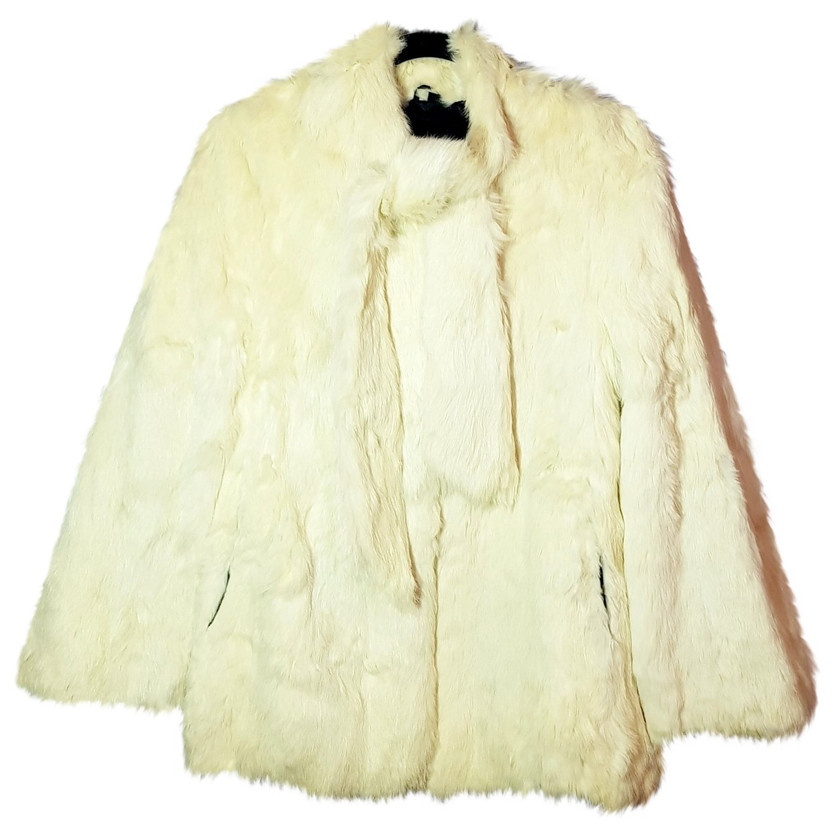 Non Signé / Unsigned \N Ecru Rabbit coat for Women S International
