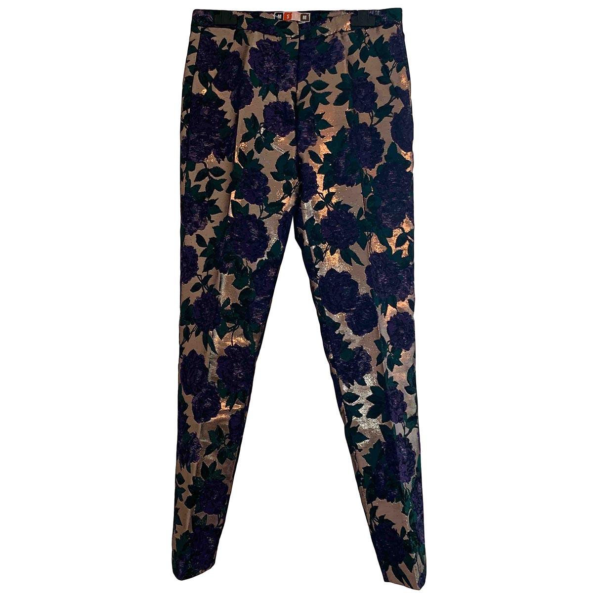 Msgm \N Multicolour Trousers for Women 40 IT