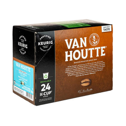 Van Houtte K-Cup Pods - Pack of 24 - Single Serve Coffee Capsules - French Vanilla, Light Roast