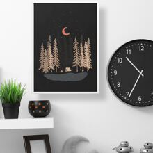 Cartoon Forest Wall Print Without Frame