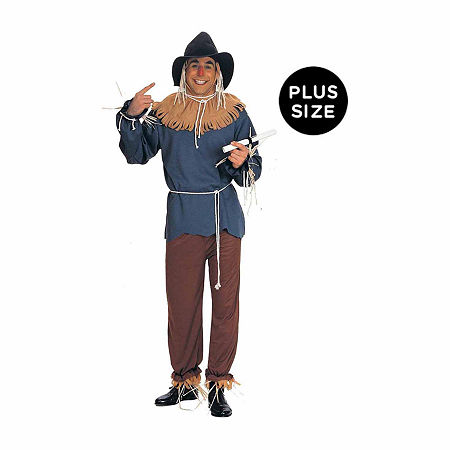 The Wizard Of Oz Scarecrow Adult Plus Costume Mens Costume, One Size Fits Most , Brown