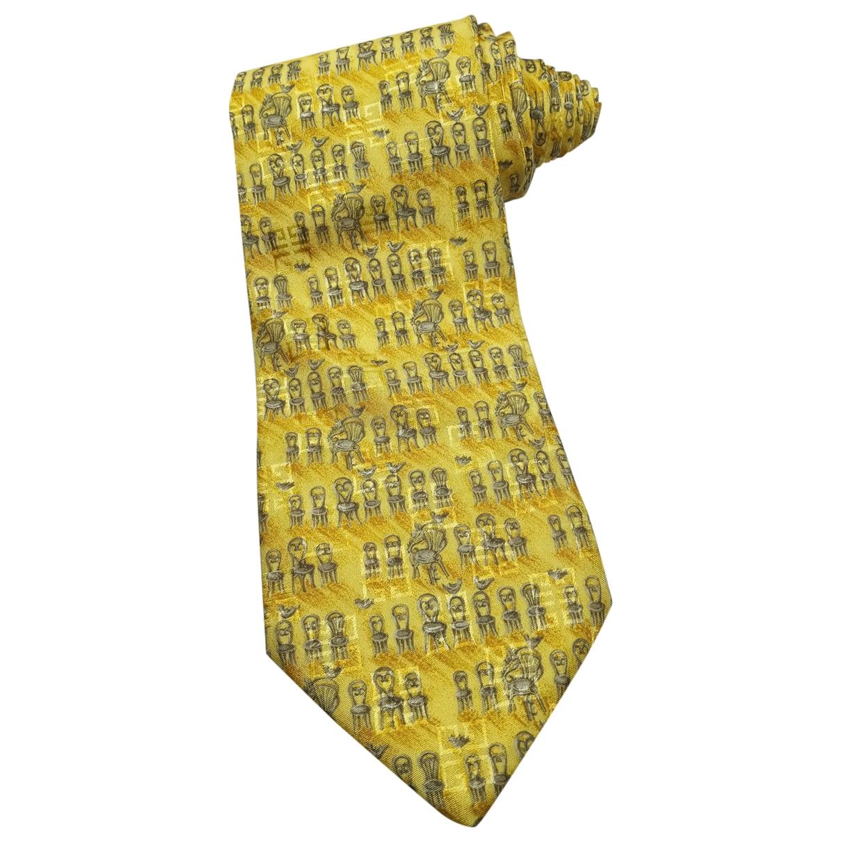 Givenchy - Cravates   pour homme en soie - jaune