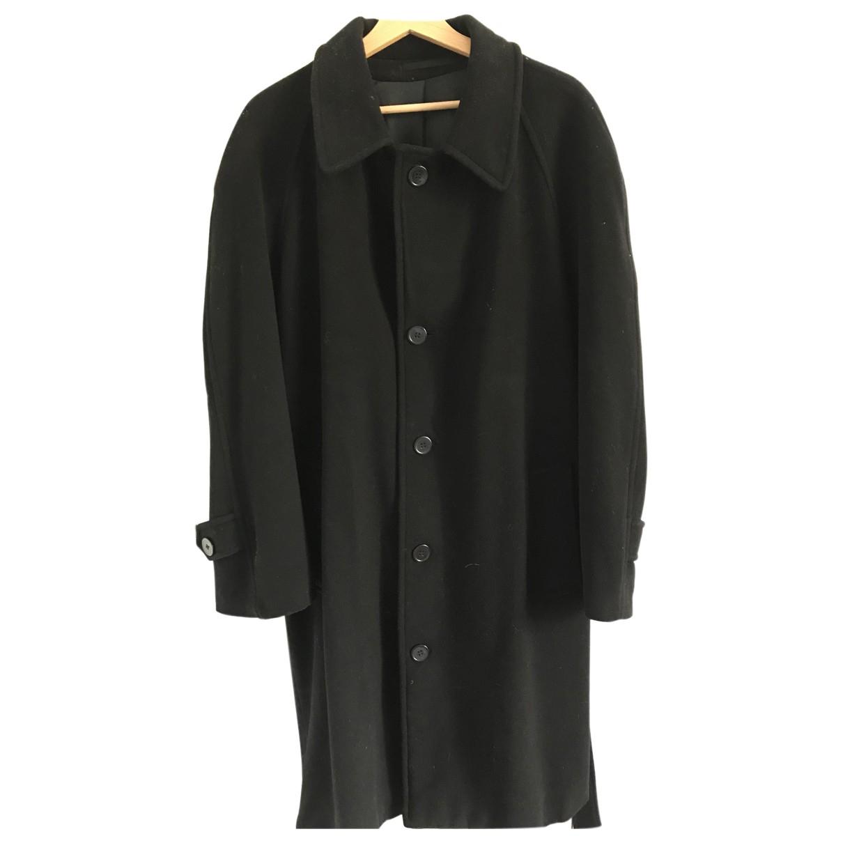 Emmanuelle Khanh N Black Cashmere coat  for Men 54 IT