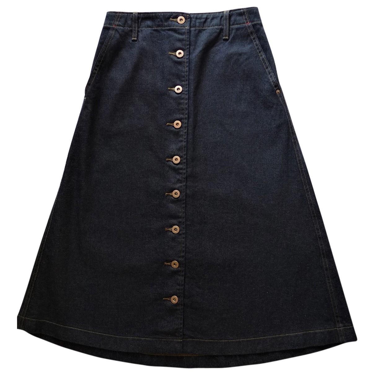 Uniqlo - Jupe   pour femme en coton - bleu