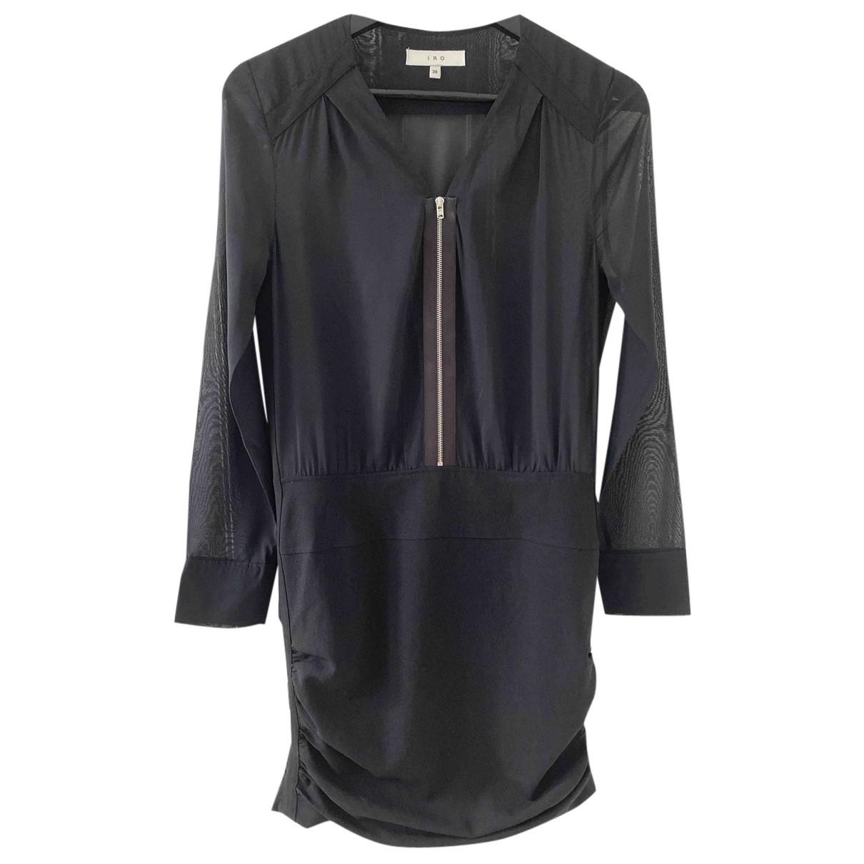 Iro N Black Silk dress for Women 38 FR