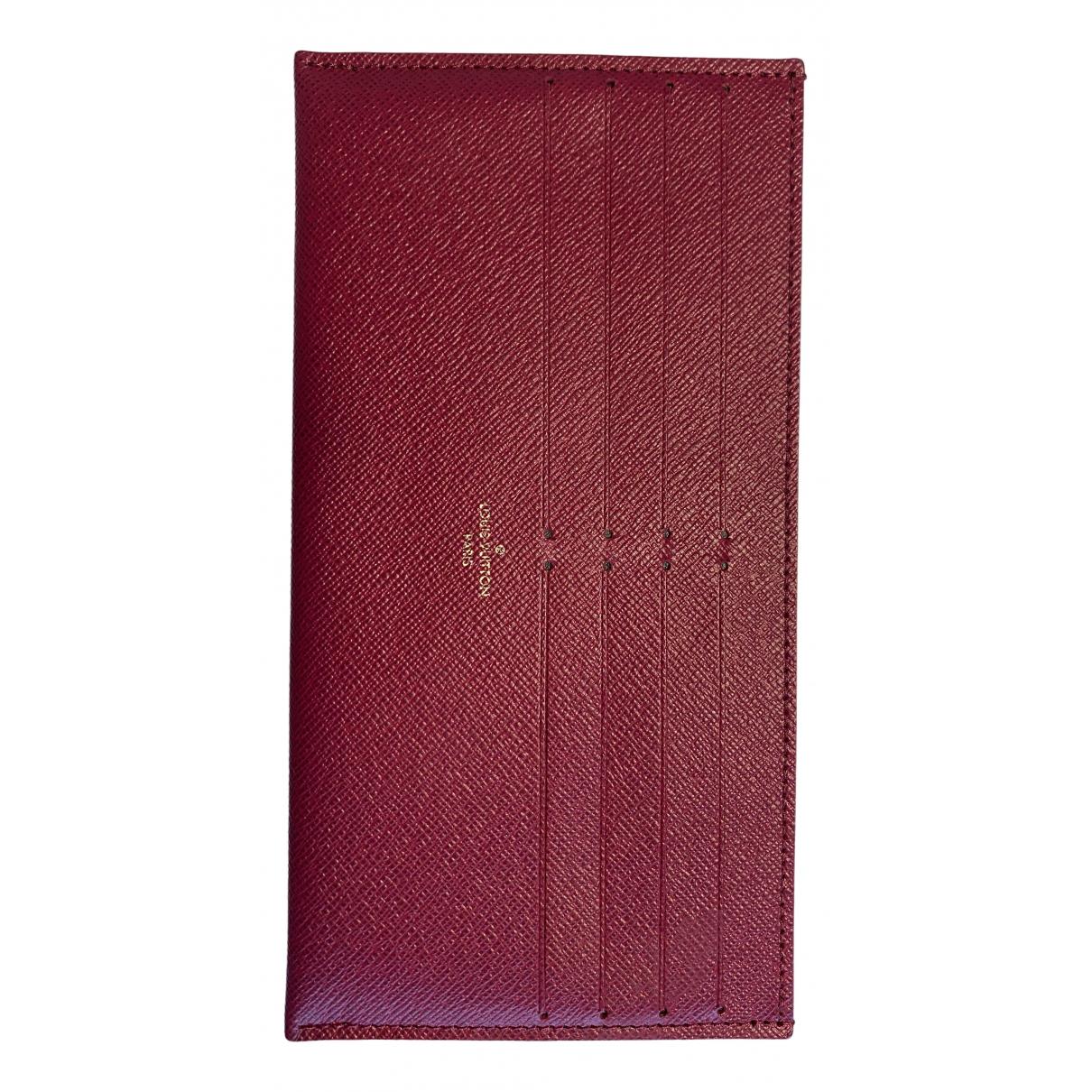Louis Vuitton - Petite maroquinerie   pour femme en toile - rouge