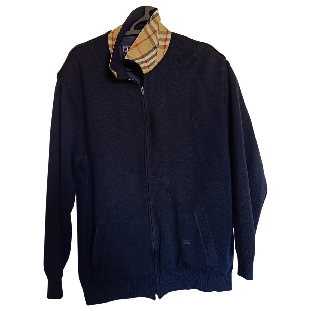 Burberry - Vestes.Blousons   pour homme en laine - bleu