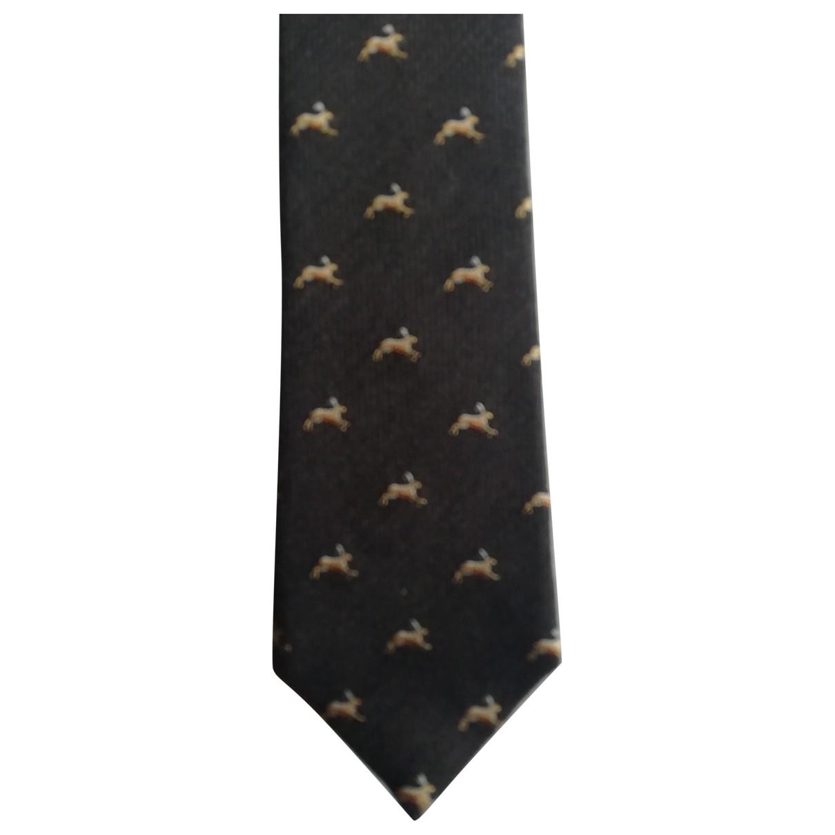 Gucci \N Krawatten in  Marine Wolle