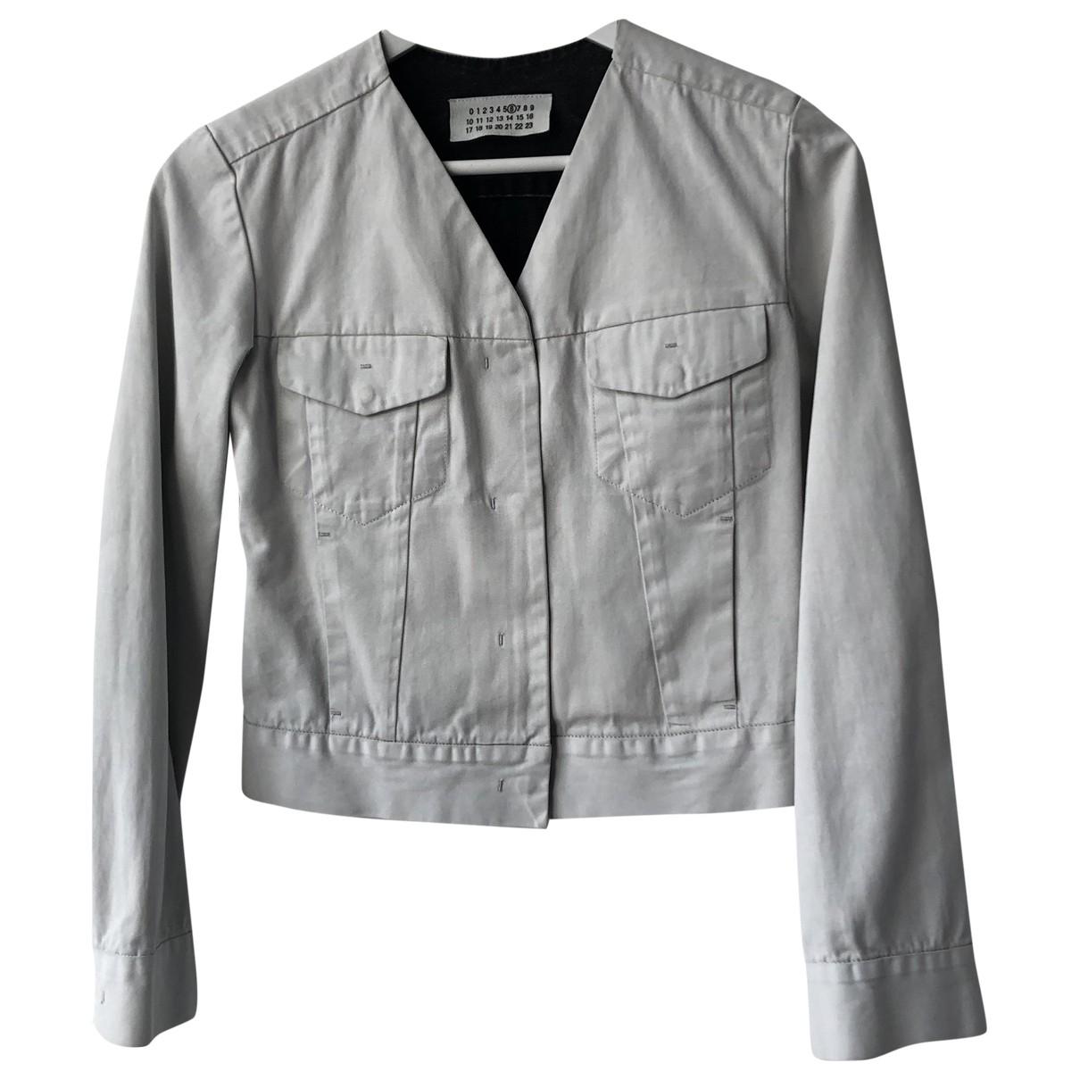 Maison Martin Margiela \N White Cotton jacket for Women 38 IT