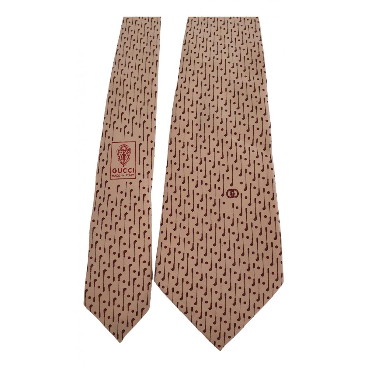 Gucci N Beige Silk Ties for Men N