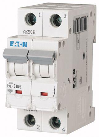 Eaton xPole 16 A MCB Mini Circuit Breaker, 2P Curve B
