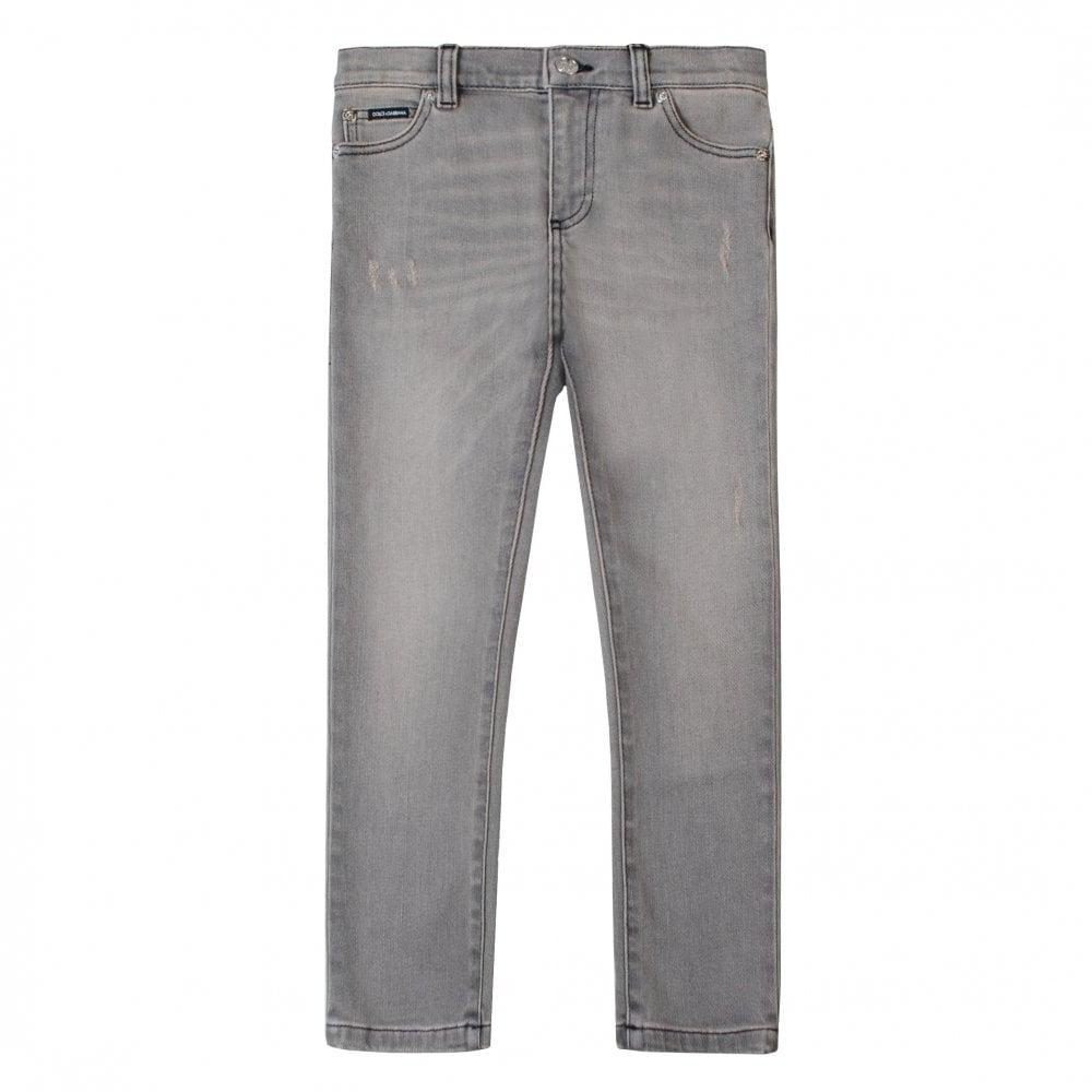 Dolce & Gabbana Denim Jeans Colour: GREY, Size: 6 YEARS