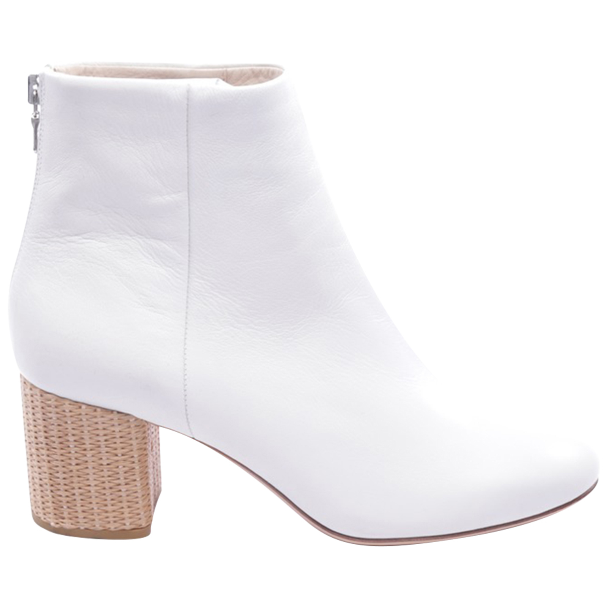 Rag & Bone - Boots   pour femme en cuir - blanc