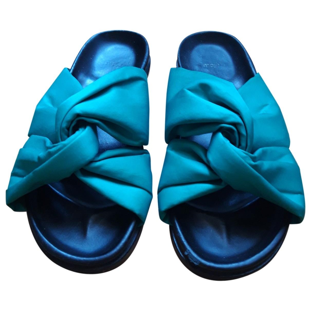 Maje \N Green Sandals for Women 37 EU